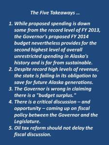 Five takeaways from the budget ... (12.18.2012)