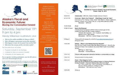 Alaska's Fiscal and Economic Future Forum & Agenda