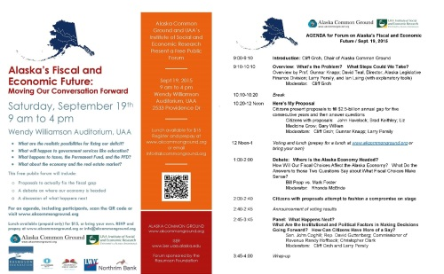 Alaska's Fiscal and Economic Future Forum & Agenda