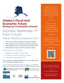 Alaska's Fiscal and Economic Future Forum
